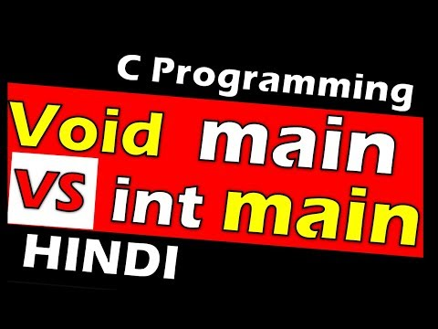 Difference between int main and void main in c || c tutorial