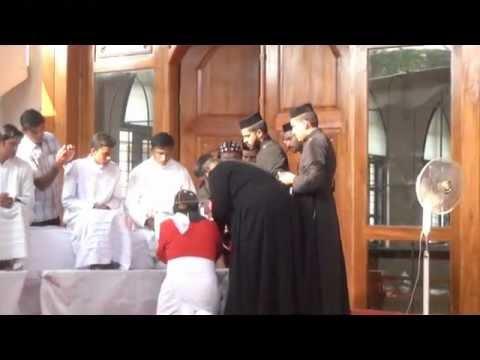 Feet Washing service by HH Marthoma Paulose II Catholicos at Mar elia Cathedral, Kottayam