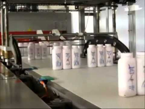 High Speed Shrink wrapping of HDPE bottles
