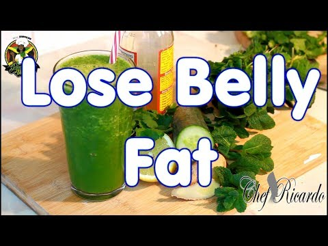 To Lose Belly Fat In One Week With A Smoothie Drink Made With Lime, Cucumber And Mint