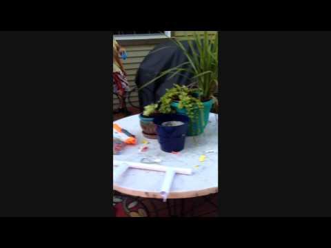 Paper blowgun DIY tutorial with DIY darts