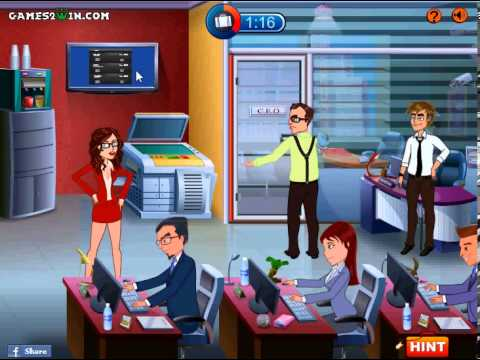 วีดีโอการเล่นเกม Naughty Secretary แกล้งเลขานุการสาวสวย