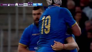 Sei Nazioni 2018, Rd 3 - Francia vs Italia 34-17 - Placcaggio e meta per Minozzi