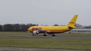 explosion moteur d'un avion DHL au décollage