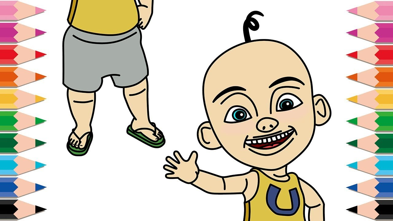How To Draw Upin Ipin Coloring Pages For Kids Learn Colors Drawing
