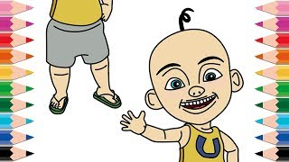 How to Draw Upin Ipin Coloring Pages for Kids Learn Colors Drawing Upin Ipin for Children