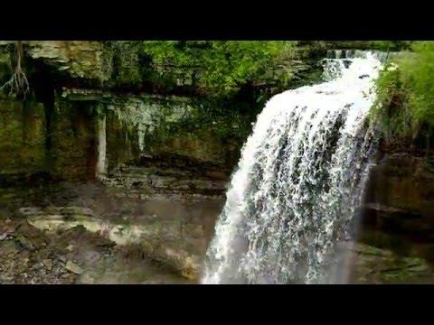 Beautiful waterfall Relaxing waterfall Minnesota !