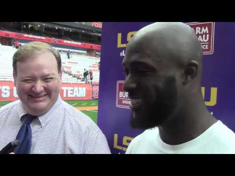 Leonard Fournette talks about meeting former Syrcause great Floyd Little | Video