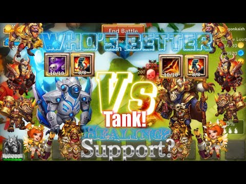 Max Wallawalla Vs Max Ghoulem Who's Better Tank, Healing And Support? Castle Clash