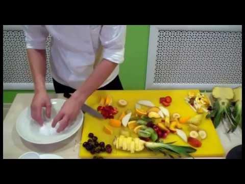Как оформить фрукты на тарелке
