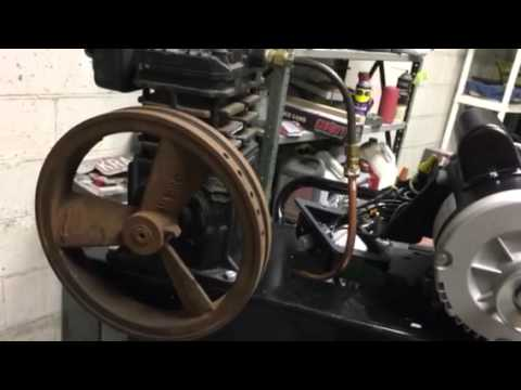 How to calculate pulley size to set the Compressor speed
