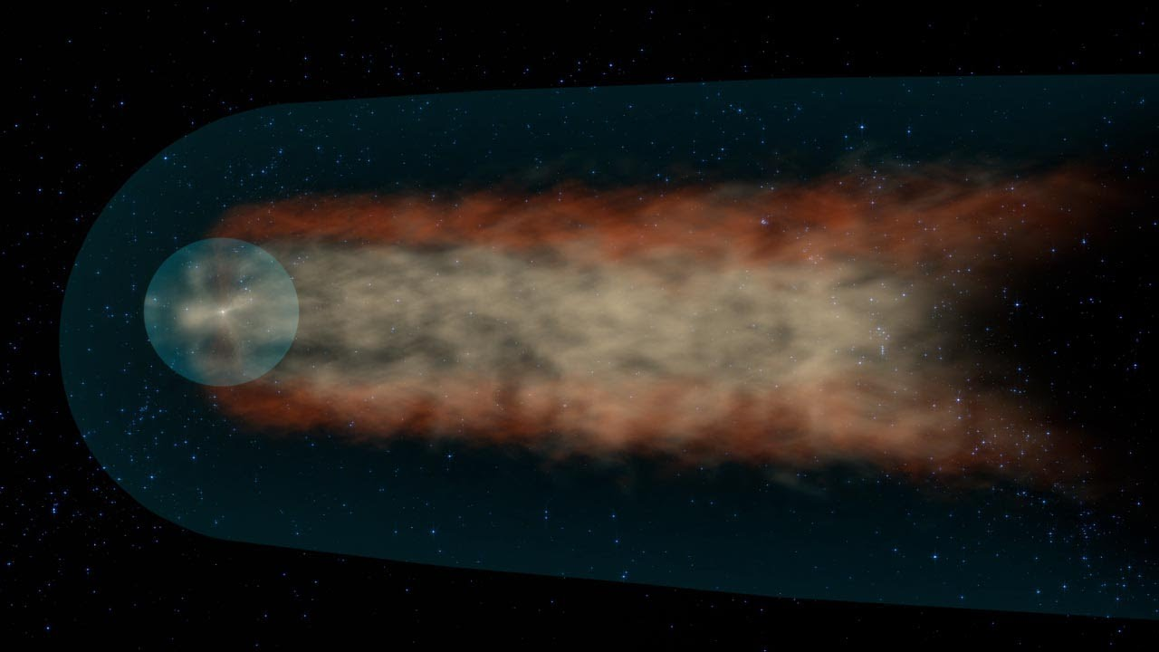 NASA   IBEX Provides First View of the Solar System's Tail