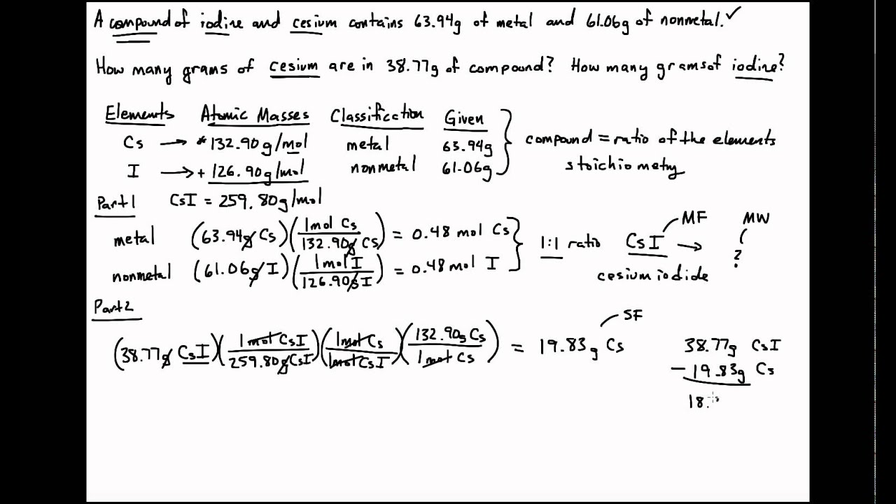 General Chemistry Cesium Iodide Part 2 20150903