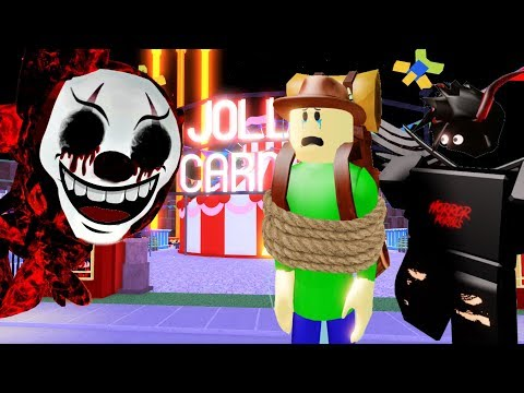 JOLLY'S CARNIVAL SECRET ENDING + NORMAL ENDING WITH CAMPING BALDI   Roblox Camping