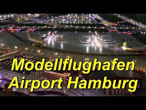 Modellflughafen Airport Hamburg. Modellschau Flughafen Hamburg.