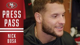 Nick Bosa Breaks Down Playing against Russell Wilson | 49ers