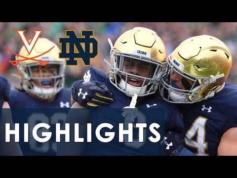 Virginia vs. Notre Dame | EXTENDED HIGHLIGHTS | 9/28/19 | NBC Sports