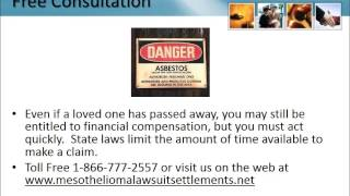 Mesothelioma Settlement Ohio 1-866-777-2557 Asbestos Lung Cancer Lawsuit OH Attorneys