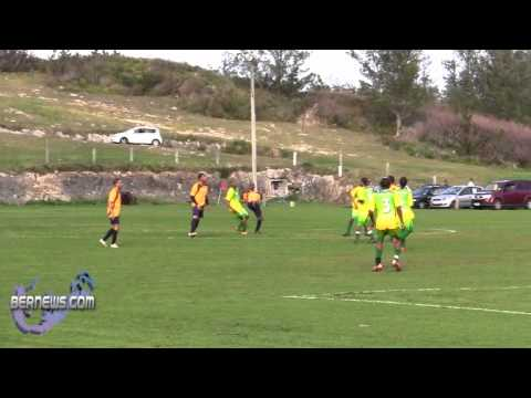 St. David's vs Cougars Premier Football soccer Bermuda Feb 6th 2011.wmv