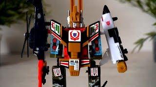 Военный робот - трансформер истребитель. Игрушки для мальчиков