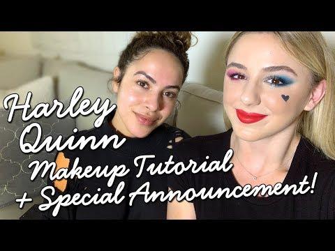 Harley Quinn Makeup Tutorial + Special Announcement | CHLOE LUKASIAK thumbnail