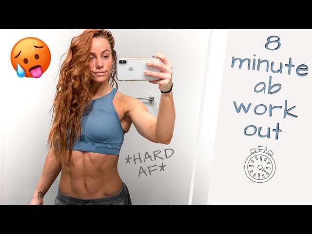 8 MINUTE FOLLOW ALONG AB WORKOUT! *no equipment*