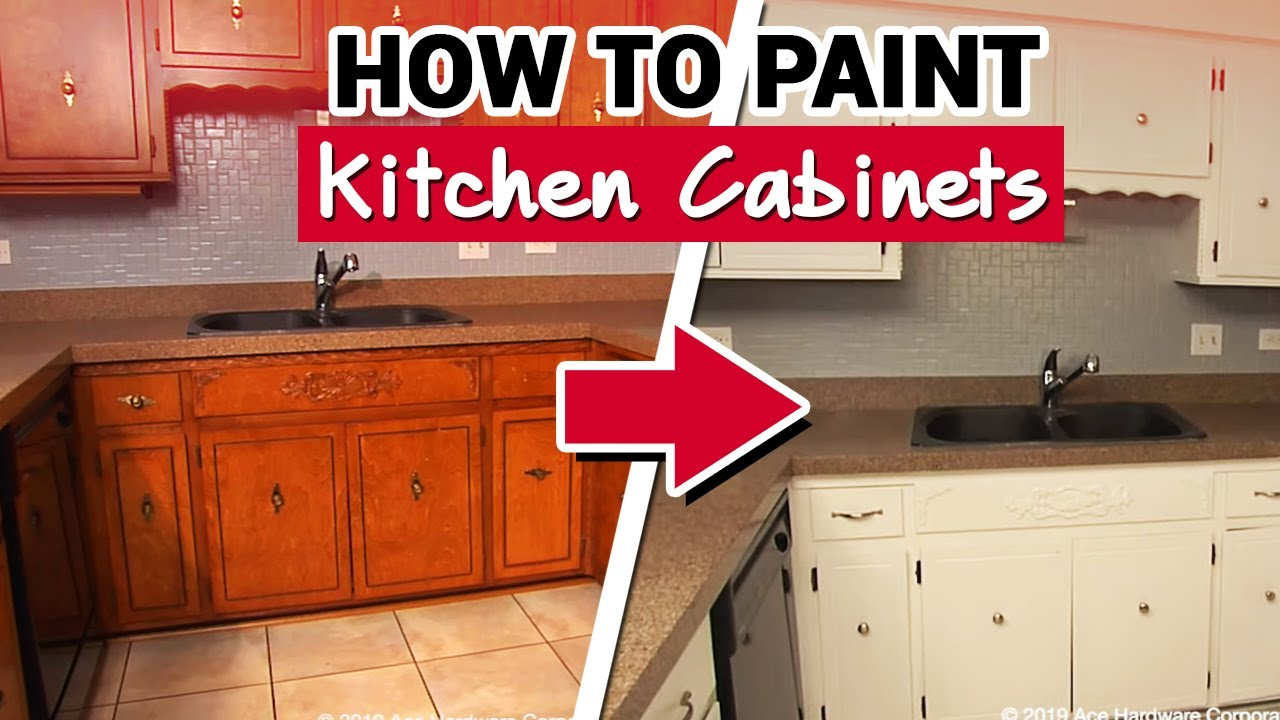 - How To Paint Kitchen Cabinets - Ace Hardware - YouTube
