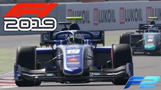 F1 2019 CAREER EXCLUSIVE Gameplay - F2 Feeder Series Race in Barcelona Spain (F1 2019 Full Game)