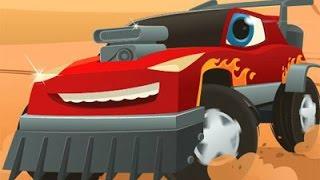 Машинки мультик. Машинка РЕДДИ и монстр траки  Спасение города - мультфильмы про машинки