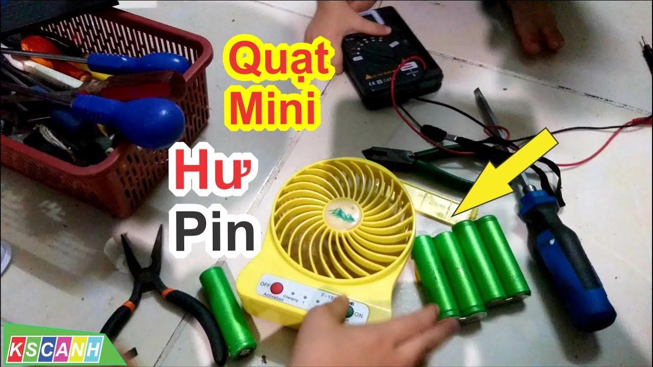 Quạt mini hư pin, tìm cell pin 18650 3.7v cho quạt đơn giản