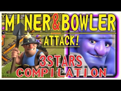 New 3 Star TH11 Miner Bowler Attack Strategy on Clan Wars