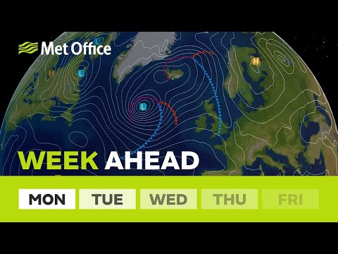 Week ahead – cooler than the weekend but still some sunshine