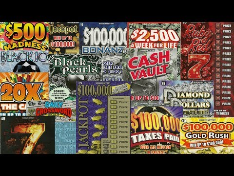 EVERY* $5 SCRATCHER FROM THE MISSOURI LOTTERY!  - 15 DIFFERENT TICKETS!!