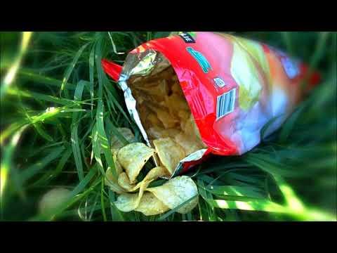ASMR - szelest zgniatania paczki po chipsach