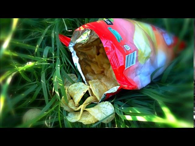ASMR PL- szelest, relaks. Dźwięk zgniatania opakowania po chipsach.
