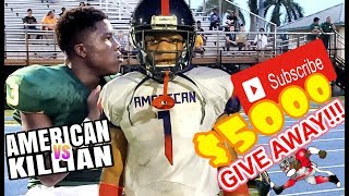 American High vs Killian High highlighs | Footballville giving away $5000 this season