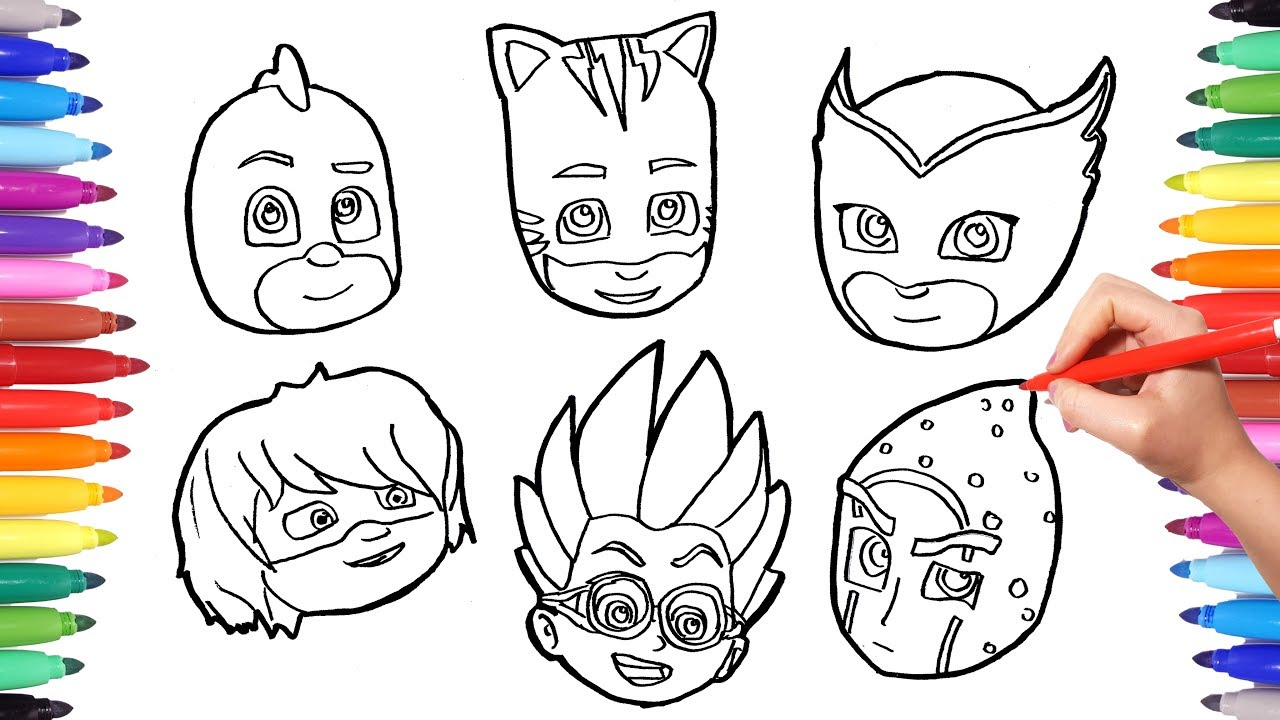 How To Draw All PJ MASKS Faces