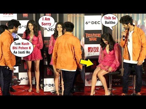 Kartik Aryaan ANGRY On Ananya Pandey For Wearing SHORT DRESS At Pati Patni Aur Woh Trailer Launch! Mp3