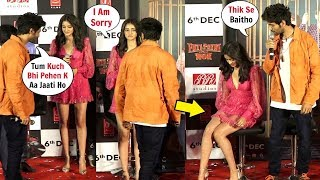 Kartik Aryaan ANGRY On Ananya Pandey For Wearing SHORT DRESS At Pati Patni Aur Woh Trailer Launch!