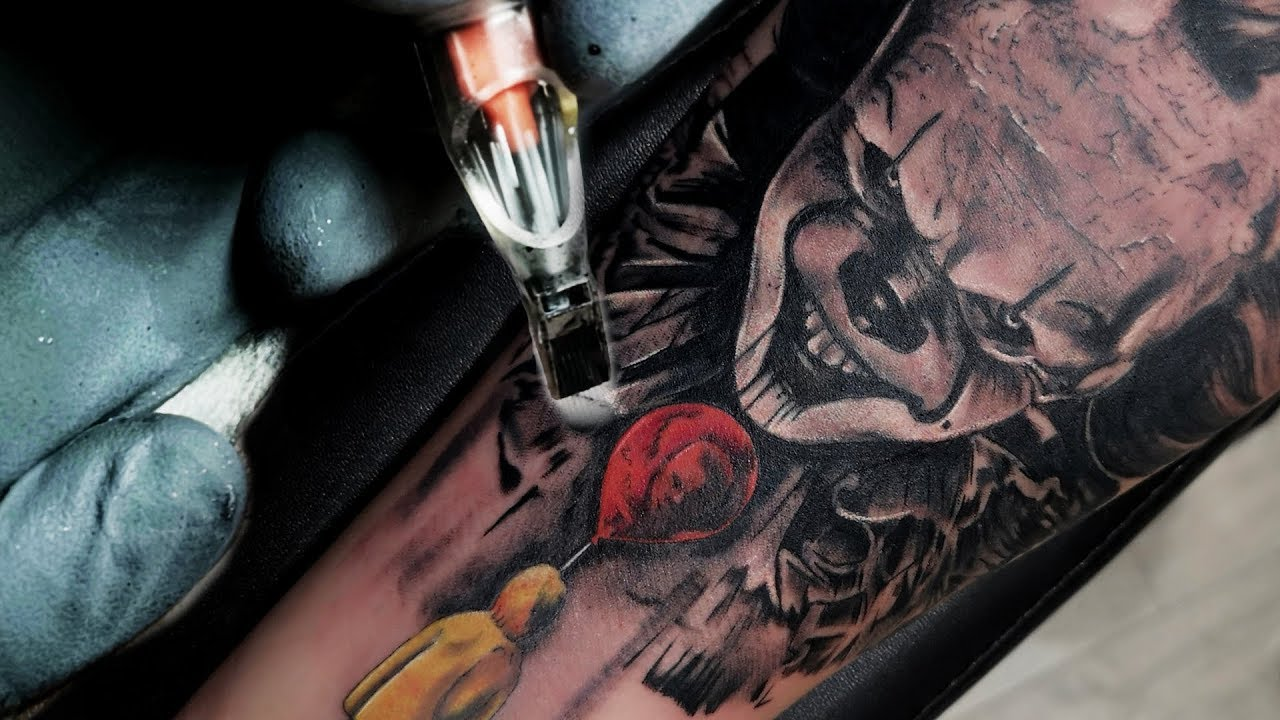 Download TATTOO TIMELAPSE - PENNYWISE THE CLOWN IT / BEN FISHER INKRUSH