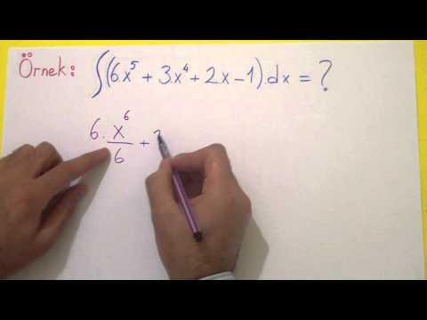 İntegral 1 Belirsiz İntegral Şenol Hoca Matematik