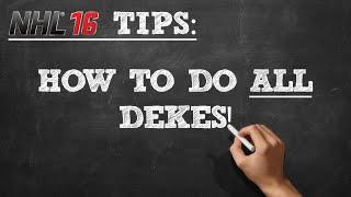 NHL 16: How to do ALL Dekes (Tutorial)
