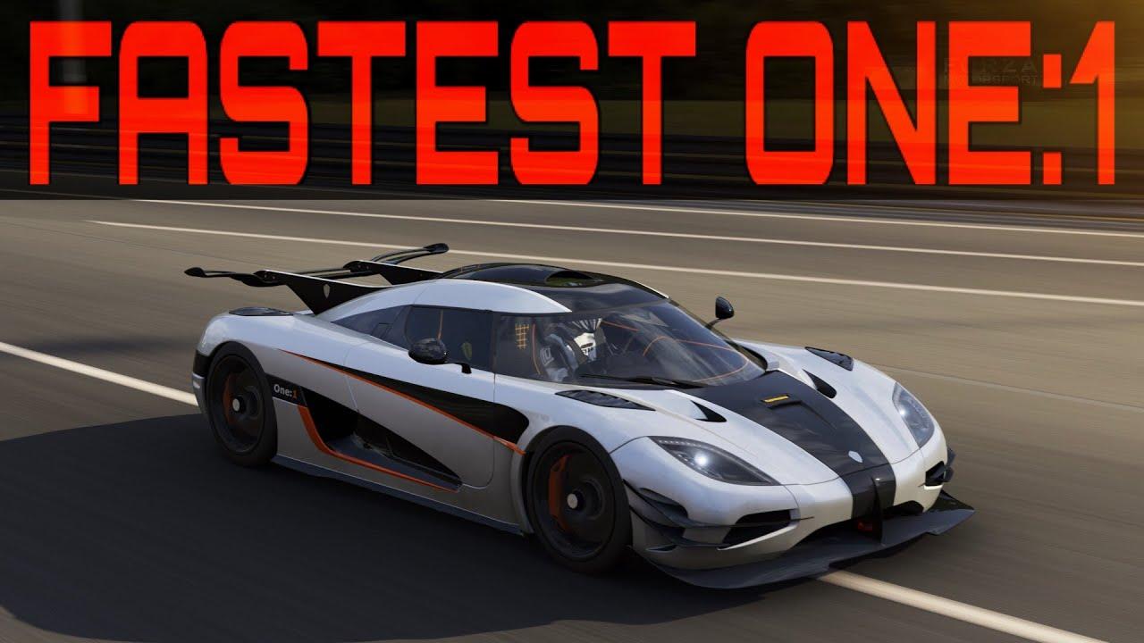 Forza 6 Topspeed Build   432km/h [270mph] 1360hp Koenigsegg ONE:1 ...
