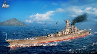 World of Warships Blitz - IJN Battleship Yamato Gameplay