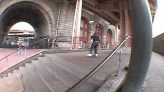 Matt Pockett Ollies Up Brooklyn Banks Stairs