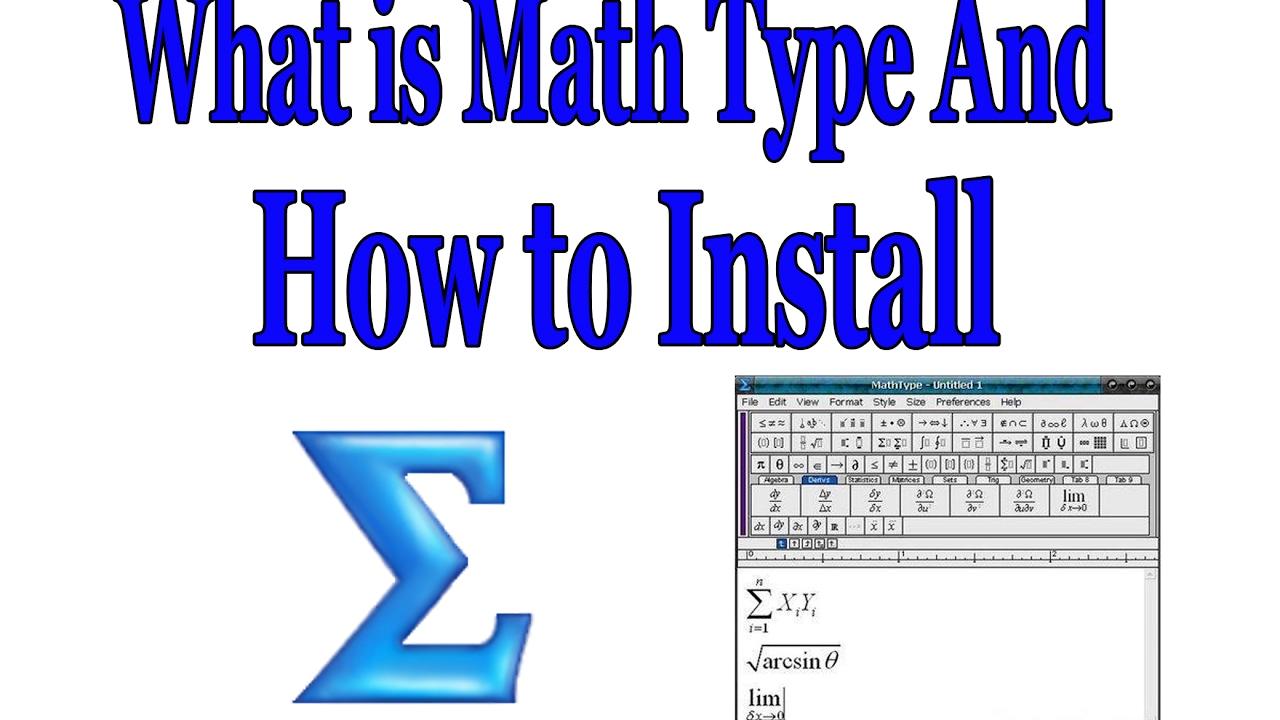 Mathtype download.