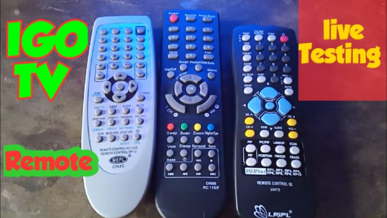 IGO TV 3-Remote Use