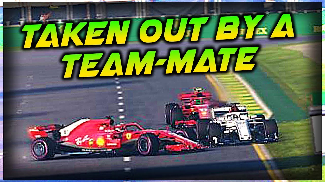TAKEN OUT BY A TEAM-MATE, T-BONE CRASH! but.....WE WIN A RACE! | F1 2018 Game Online