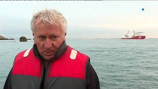 Ouessant : l'hydrolienne D10 de Sabella retrouve les fonds marins