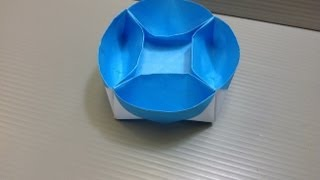 Daily Origami: 056 - Lazy Susan Compartment Tray
